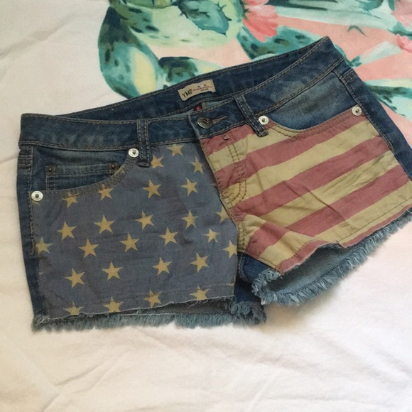 YMI Pants - YMI American Flag Denim shorts